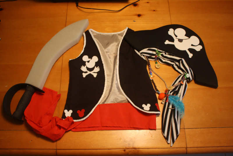 Mickey Mouse Kid Costume Homemade