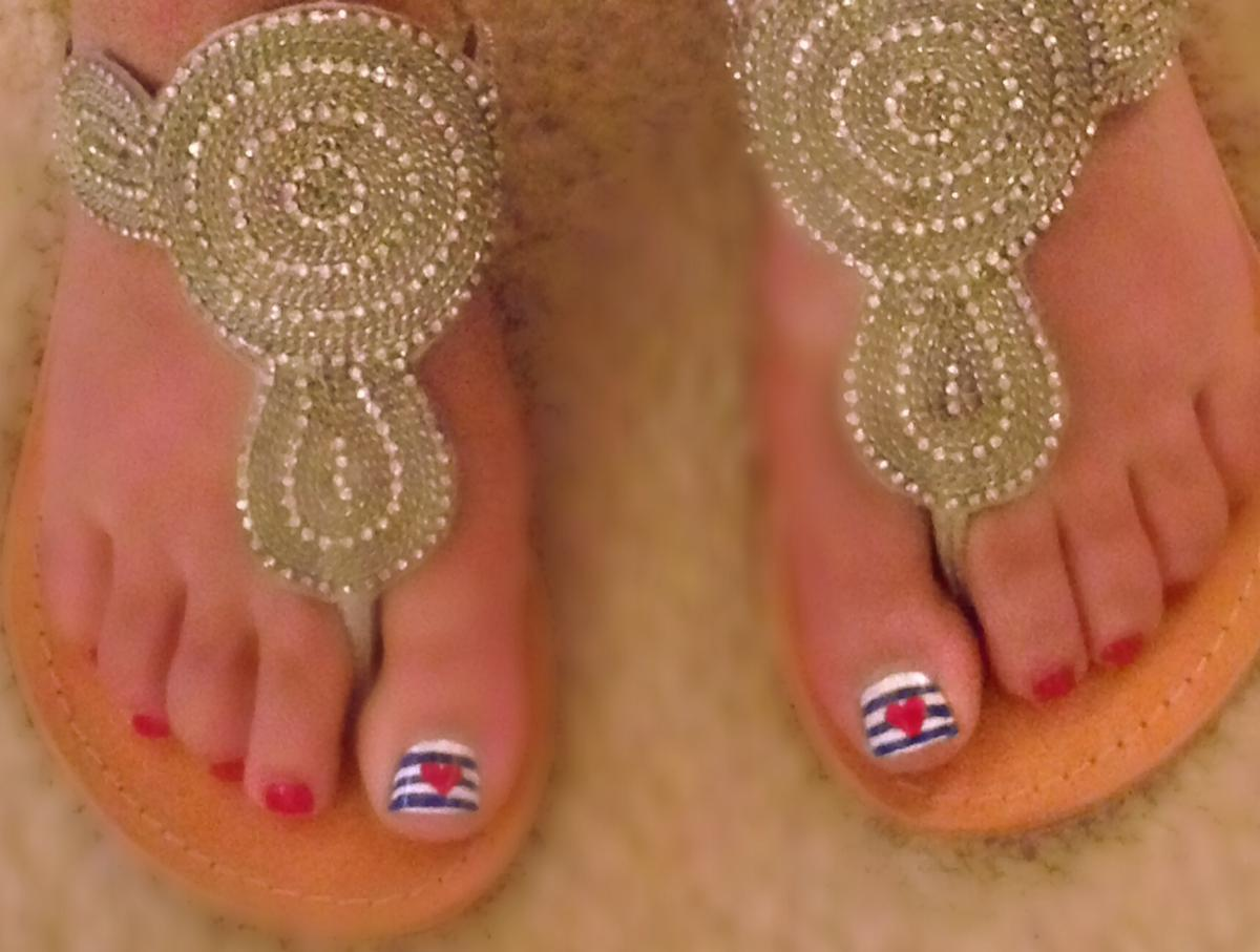 Beauty Tips For Women July 4th Manicure And Pedicure