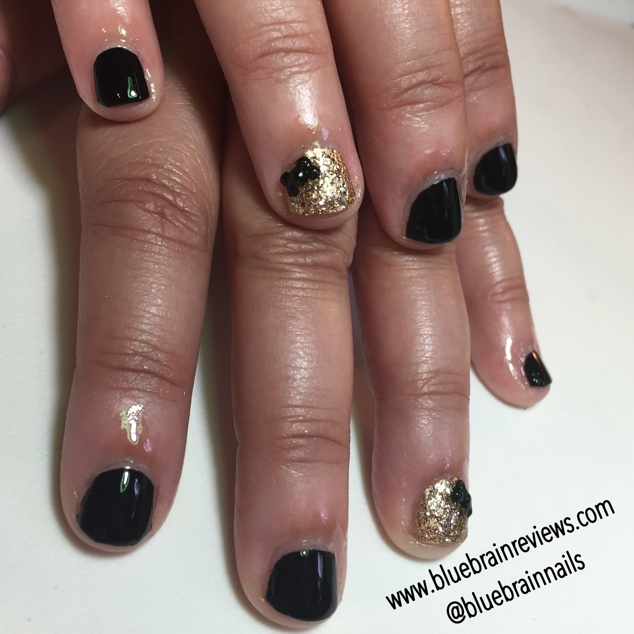 Beauty Tips For Women Black Gold Manicure Bluebrainreviews